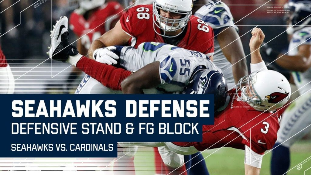 Seahawks Defensive Stand Ends with Leaping FG Block!   Seahawks vs. Cardinals   NFL- NFL Highlights