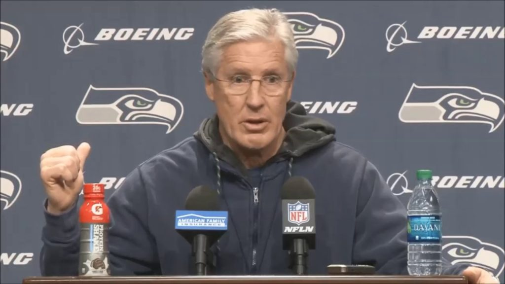 Pete Carroll preview on playoff game Detroit Lions vs Seattle Seahawks  – January 3, 2017