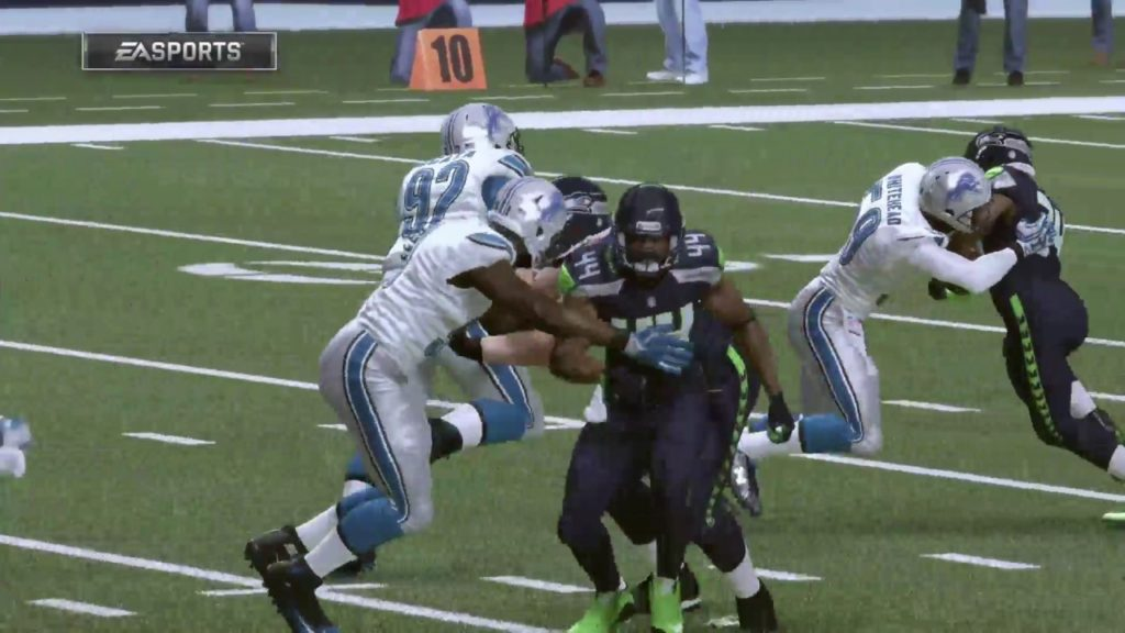 Lions @ Seahawks 2017 Wildcard Playoff Simulation