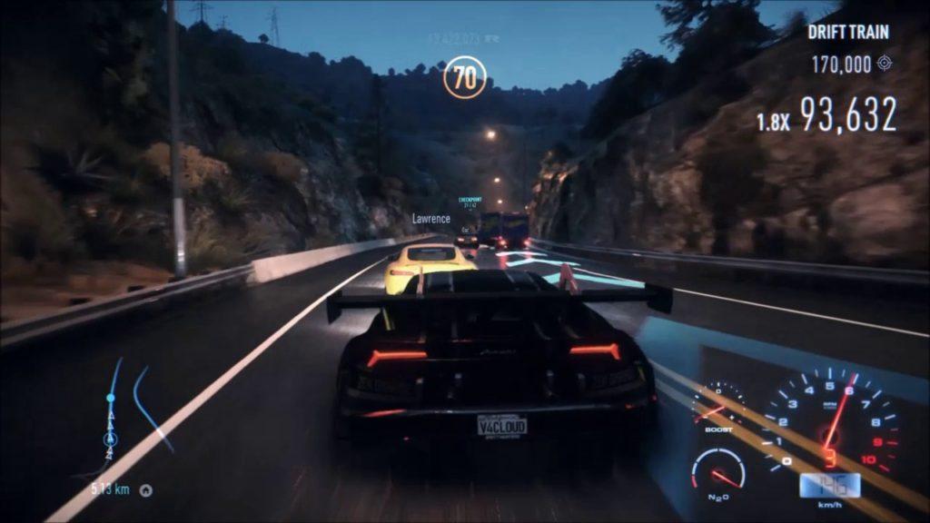 Need for Speed 2015- Lamborghini Huracan [Seattle Seahawks vinyl] – Drift Train Gameplay