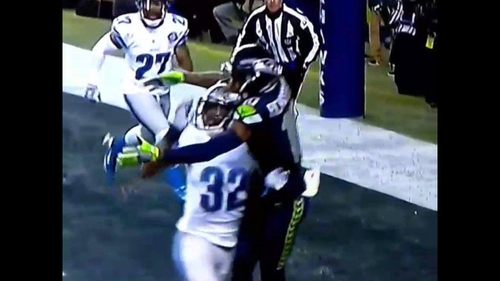 J.rich Seattle Seahawks catch of the year playoffs one hand
