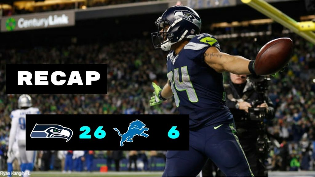 Seattle Seahawks vs Detroit Lions Recap   NFL Wild Card Playoffs 1/7/2017