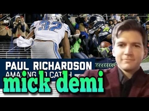 Amazing Richardson touchdown catch Seahawks vs Lions Highlights NFL Wildcard game 2017 review