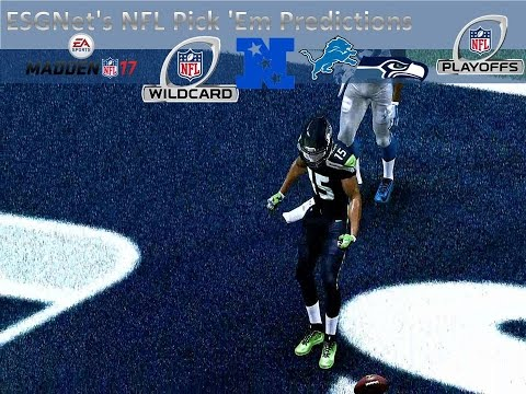 ESGNet's NFL Pick Em' | Madden '17 | NFC Wild Card | Detroit Lions vs. Seattle Seahawks