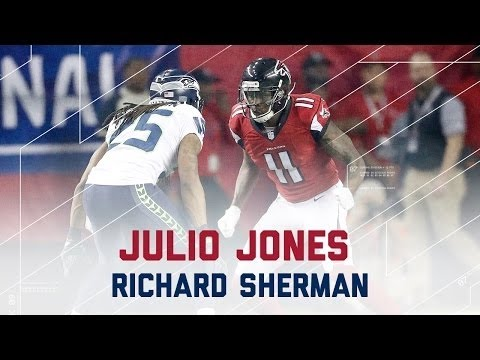 NFL 2016 Divisional Round Seahawks vs Falcons – Julio Jones & Richard Sherman Highlights