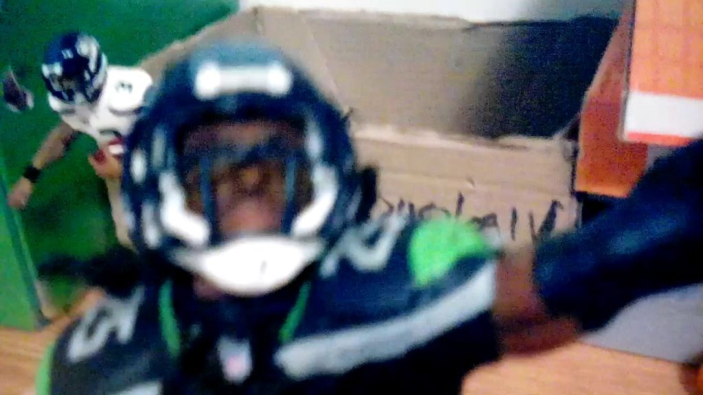 Seattle Seahawks Figures Russell Wilson and Richard Sherman!!