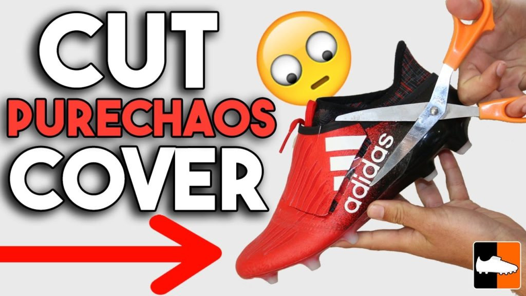 How to Cut Purechaos to REMOVE LACE COVER on adidas X16+ Football Boots