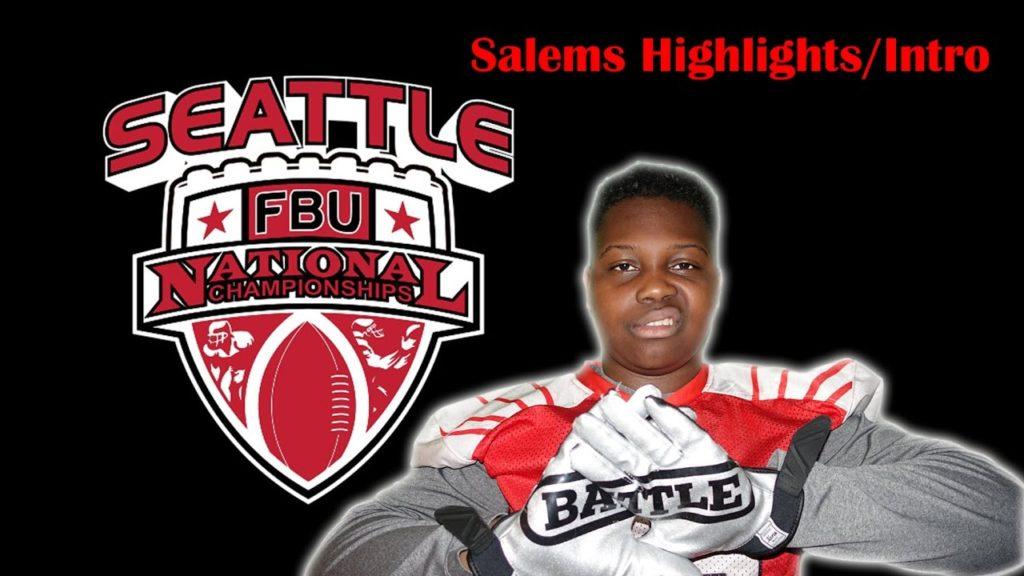 2016 FBU Team Seattle 6th Grade: Salem Goldsmith FBU Championship  football Highlight Reel