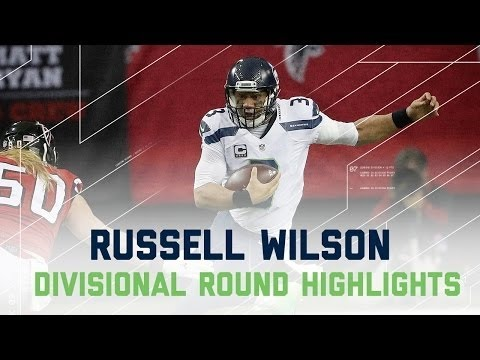 NFL 2016 Divisional Round Seahawks vs Falcons – Russell Wilson Highlights