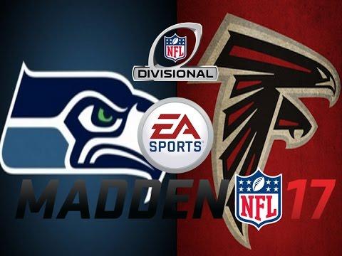 Madden NFL 17 – Divisional Playoffs Predictions – Seattle Seahawks vs Atlanta Falcons