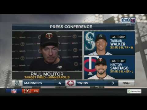 Twins' Molitor thanks fans for their support after final home game of the season