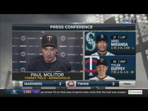 Twins' Molitor: 'It was just enough, but it feels good to win a game'