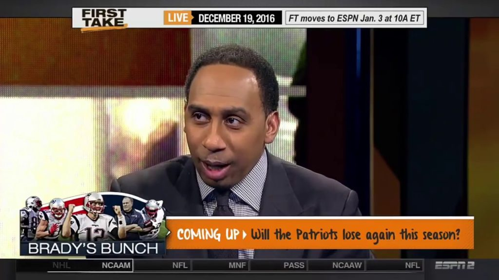 ESPN First Take Will New England Patriots Win the Super Bowl?