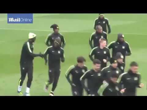 Man City enjoying rigorous training exercises as a team