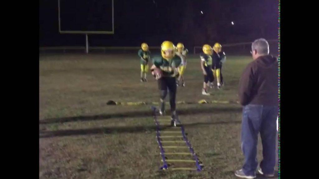 Running Back Agility Ladder Drills- Youth Football