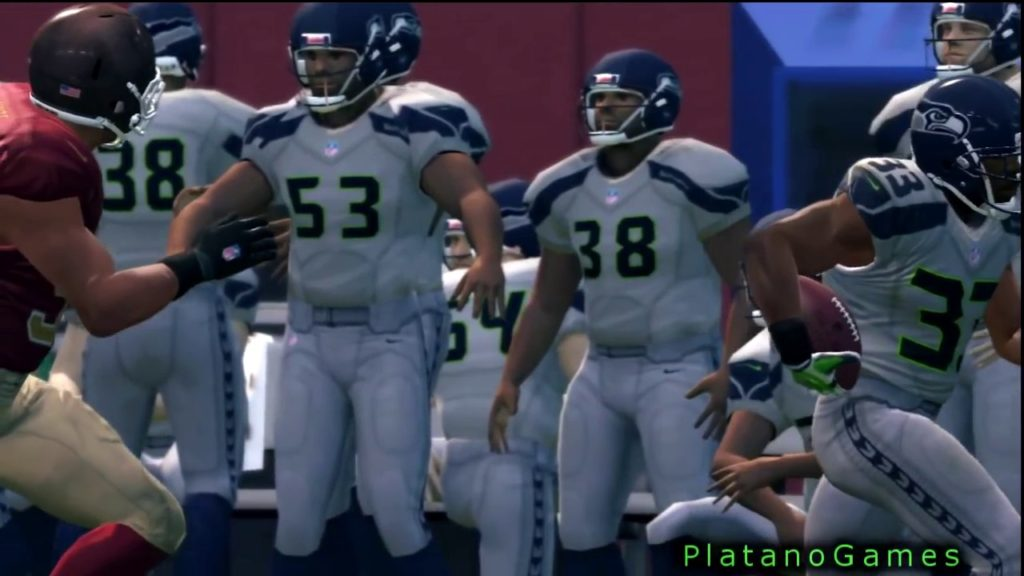 102 Yard Kick Return Touchdown Leon Washington – Seattle Seahawks – Madden NFL 13 – HD Se