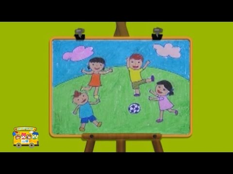 HOW TO DRAW PLAY FOOTBALL FOR KIDS LEARNING COLORS