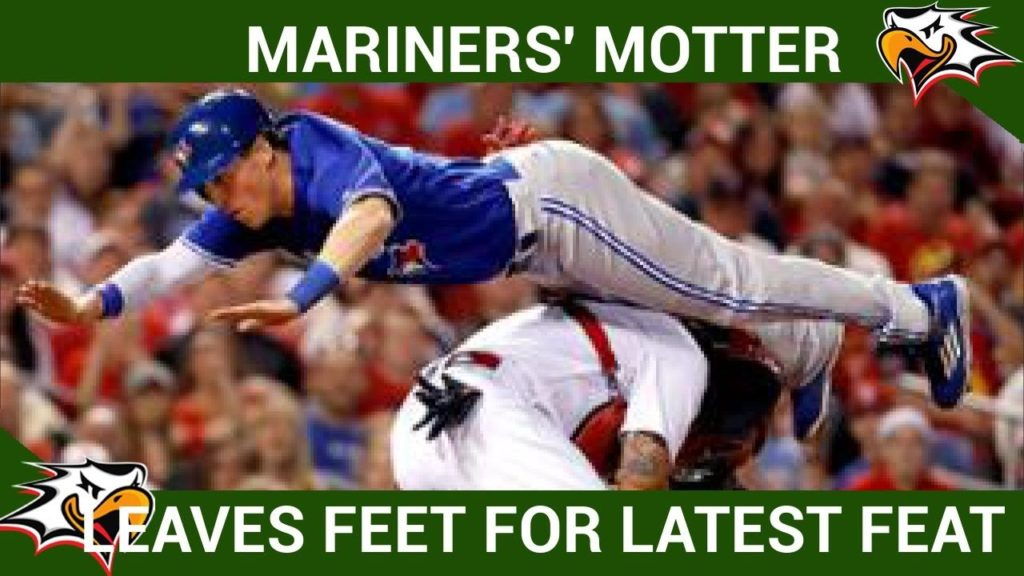MARINERS' MOTTER LEAVES FEET FOR LATEST FEAT