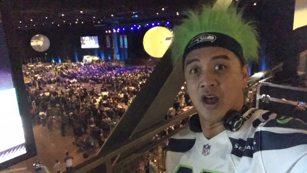 Seahawks pick 26 live at the draft party!!!