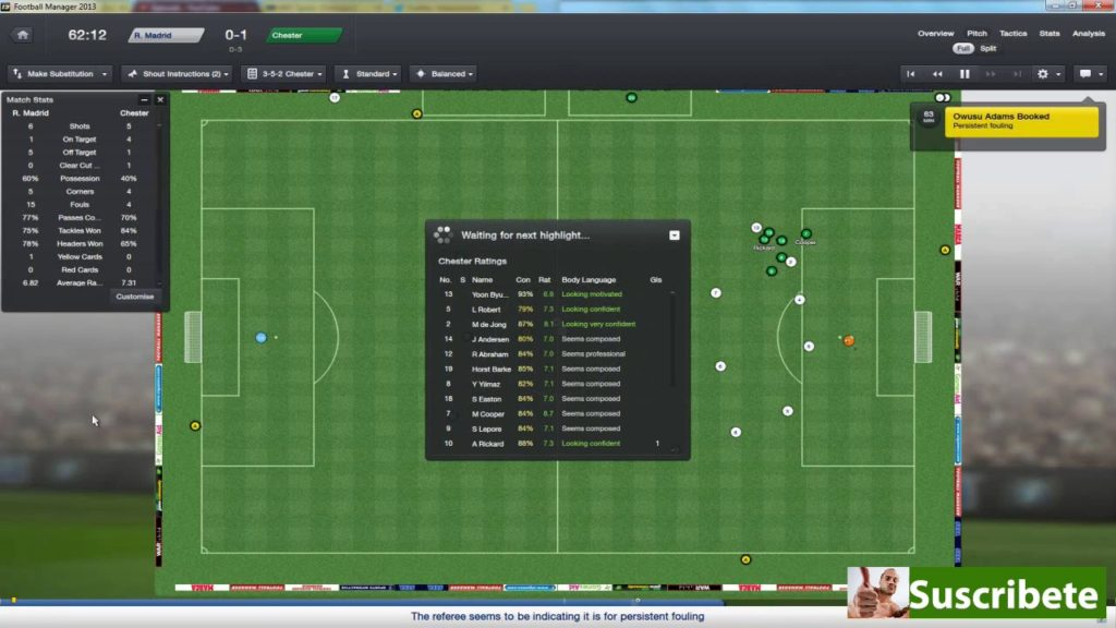 Football Manager 2013 | The Chester Mission | Episode 167 – Real Madrid semi final 2nd leg!