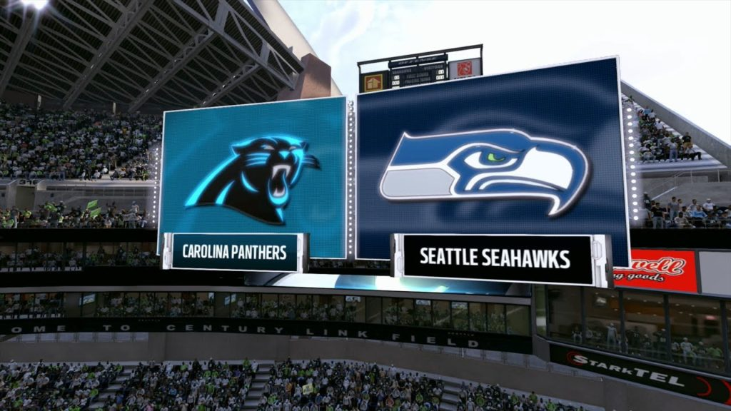 2017 Mock NFC Wild Card – Carolina Panthers vs Seattle Seahawks (Madden NFL 17)