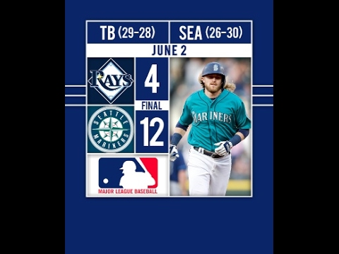 Mariners Take Down the Rays-HIGHLIGHTS Taylor Motter hits a grand slam to lift the Mariners to a