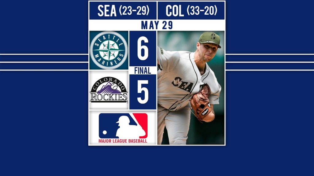 Mariners Top the Rockies – HIGHLIGHTS: The Mariners beat the Rockies 6-5 as Kyle Se