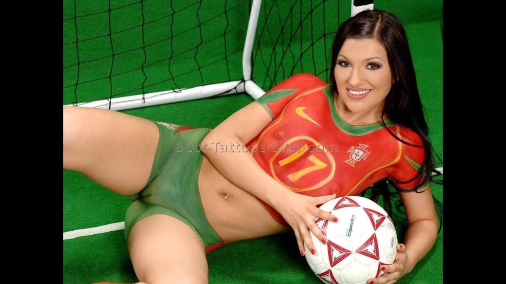 Hot grils Sexy girls play football slepping