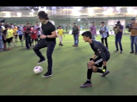 Tiger Shroff Playing Football With Kids