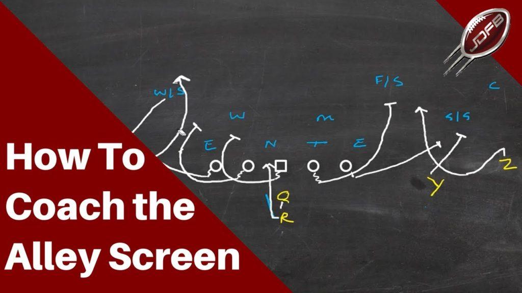 How to Coach the Alley Screen Play | Joe Daniel Football Live!