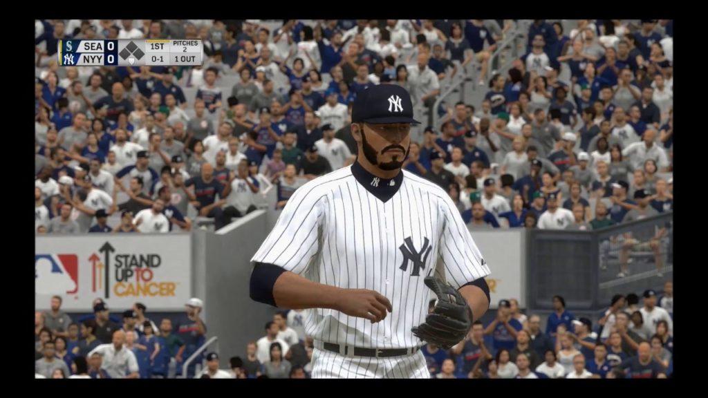 MLB The Show 17 RTTS -SP- NY Yankees 1×130 vs Seattle Mariners