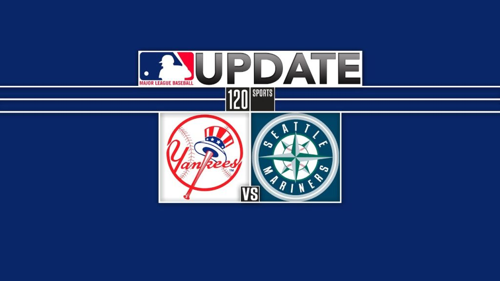 Ump Takes a Shot to the Head – The Yankees lead the Mariners 1-0 in the eighth inni