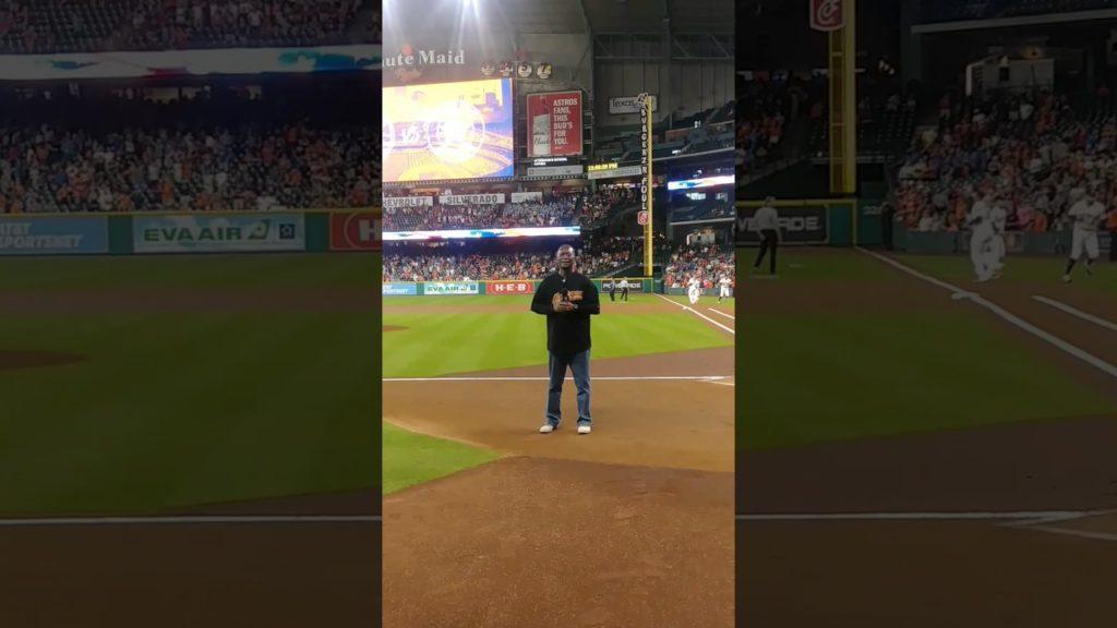 Rick Godfrey sings the National Anthem -Astros vs Mariners