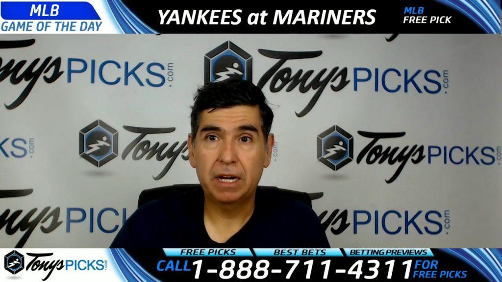 New York Yankees vs. Seattle Mariners Free MLB Baseball Picks and Predictions 7/23/17