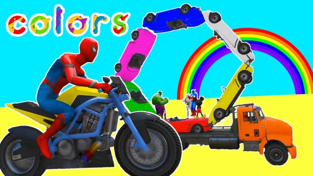 Learn Colors with Classic MULTI CARS,  MULTI COLORS play football   Educational Video