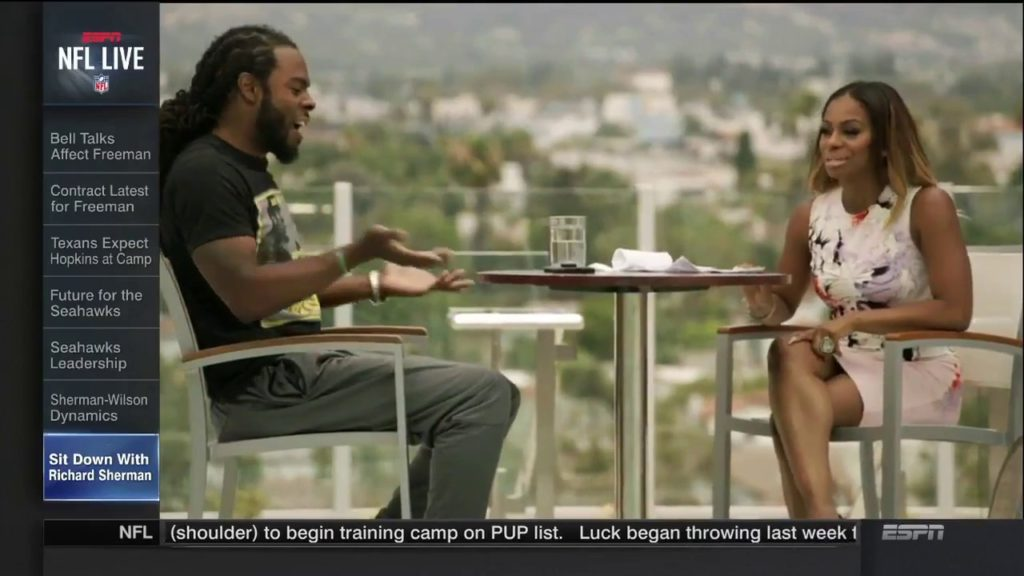 Sit Down with Seattle Seahawks Cornerback Richard Sherman   NFL Live   July 24, 2017