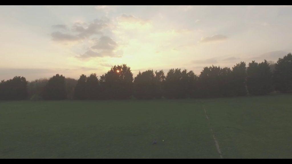 Drone View of Tyler playing football ( DJI Phantom 3 )