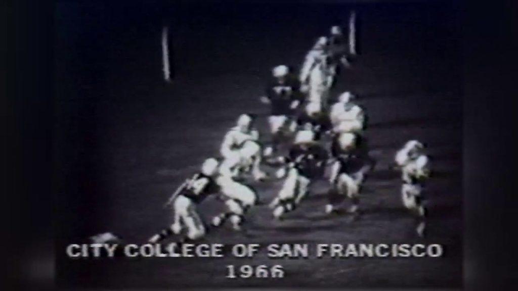 OJ Simpson playing football as a kid in San Francisco