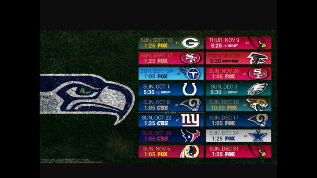 Seattle Seahawks 2017 Schedule
