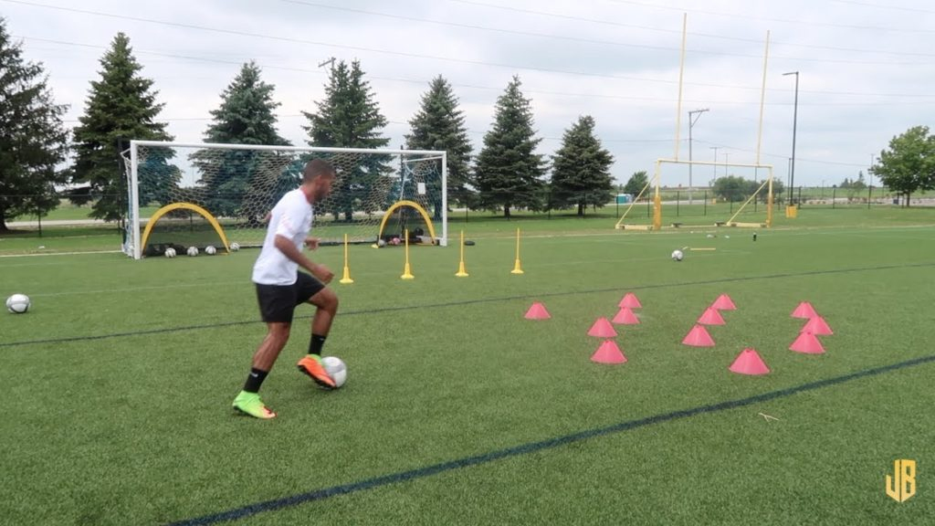 High Intensity Soccer Drills – Training Session With a Subscriber!