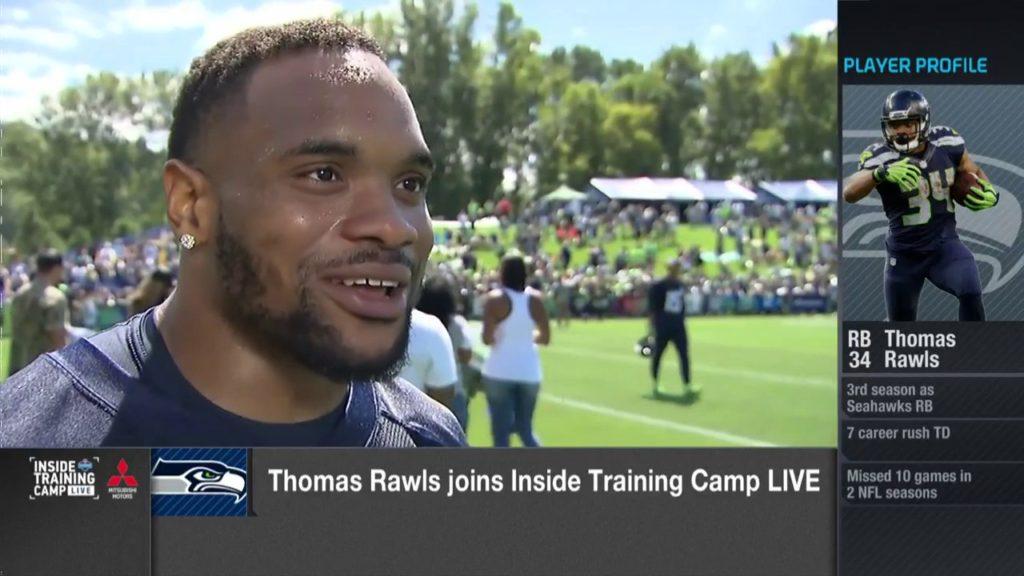 Thomas Rawls Seattle Seahawks quarterback Russell Wilson looks faster, has more energy