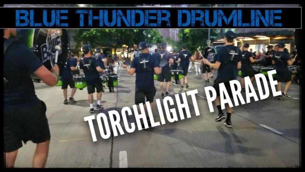 Seahawks Drumline Blue Thunder Drumline | Torchlight Parade 2017