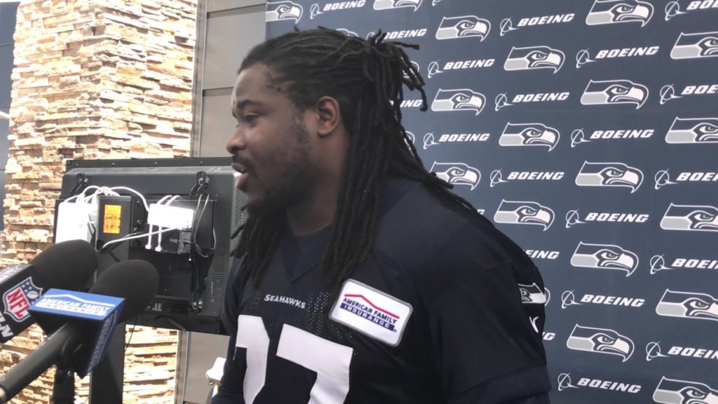 Eddie Lacy didn't have in Green Bay what he had at Seahawks camp: Kendrick Lamar in team huddle