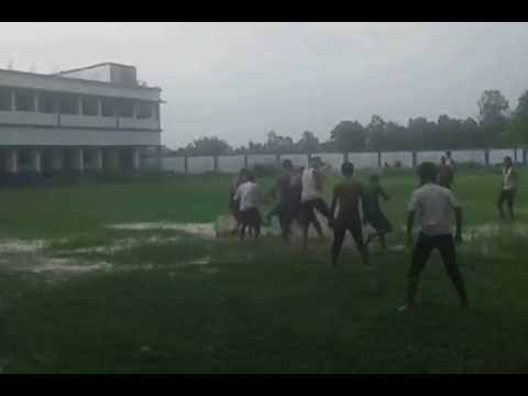 How Kids are playing football in water   Nice play   Try to Happy