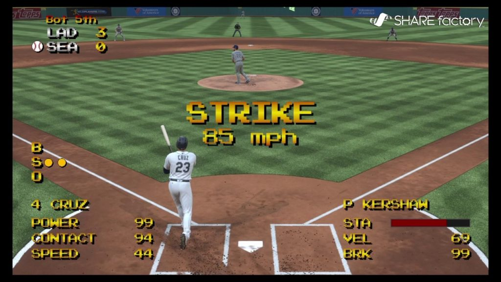 MLB The Show 17: Retro Mode LA Dodgers vs Seattle Mariners