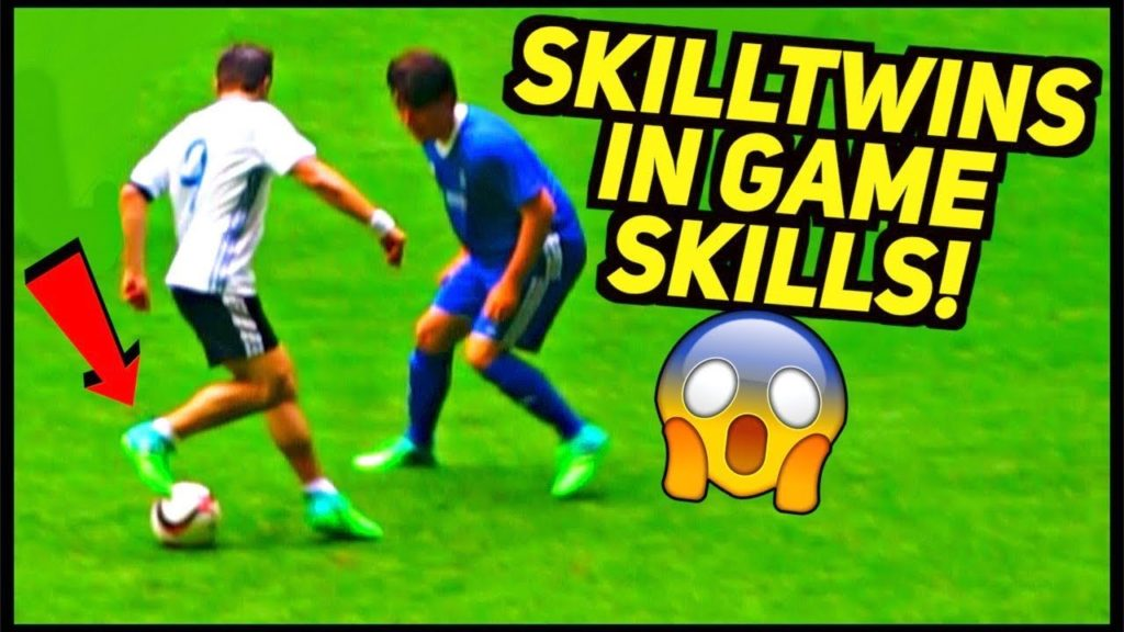SKILLTWINS PLAY IN GAME & IMPRESS ON A FOOTBALL LEGEND! (Match Skills/Goals/Passes)