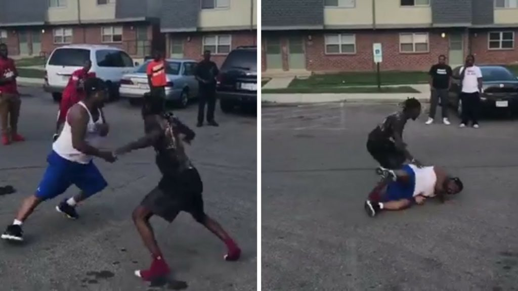 Snap Dogg DESTROYS someone in the street playing football!!!