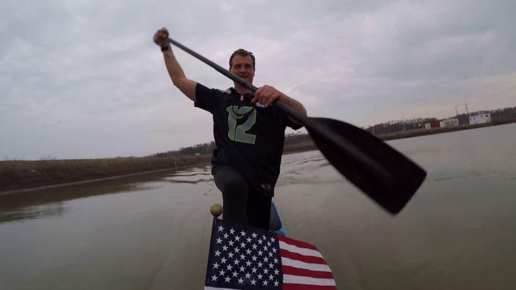 Canoeing  in honor of Seahawk Football Team