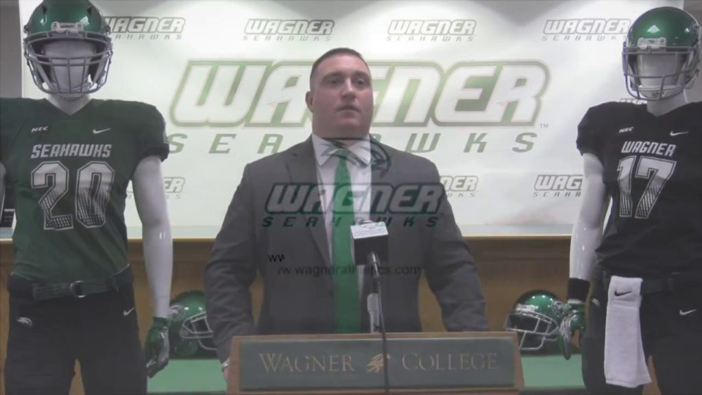 Wagner Head Football Coach Jason Houghtaling Discusses Seahawk Class On National Signing Day