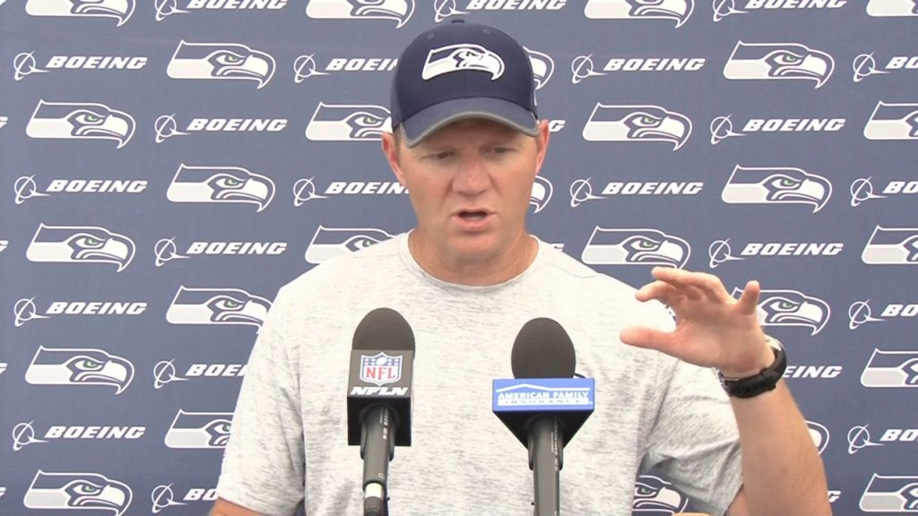 Seahawks Offensive Coordinator Darrell Bevell Training Camp Day 5 Press Conference